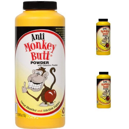 Anti Monkey Butt Anti Friction Powder with 2 Travel Size Bottles