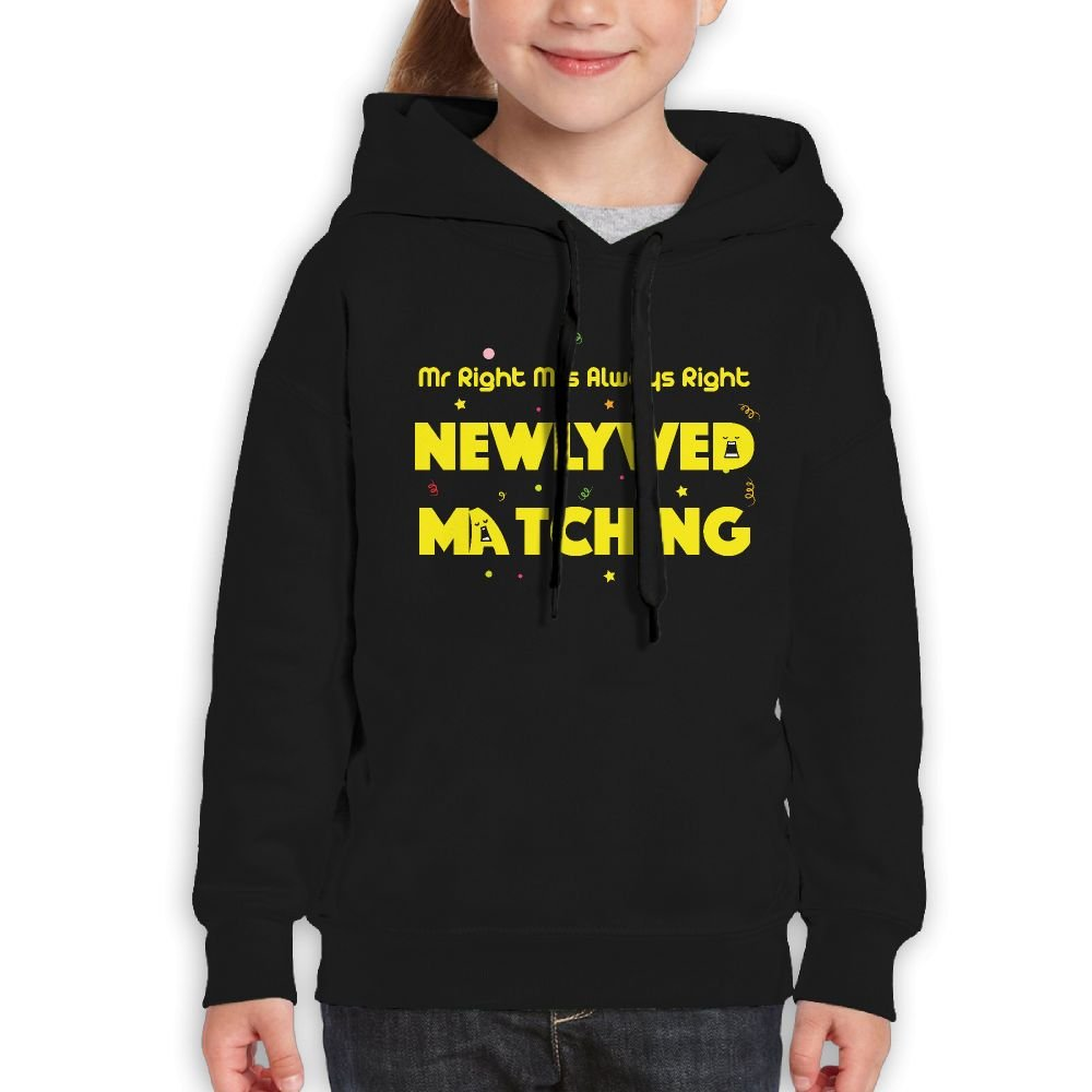 RWEA Mr Right Mrs Always Right Newlywed Matching Girl' Classic Funny Sweatershirt Casual Clothing