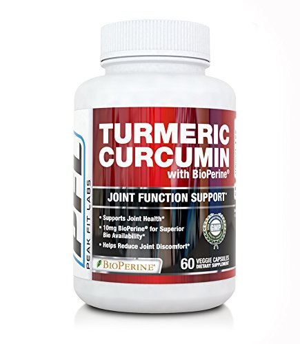 Turmeric Curcumin Supplement, 10mg Bioperine, 1300mg Organic Turmeric Capsules Containing 95% Curcuminoids and Black Pepper Extract for Joint Support, AIDS Inflammation, Non-GMO, Gluten Free For Sale