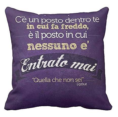 Cuscino Personalizzato 40x40 Frase Ligabue Canzone Damore Quella