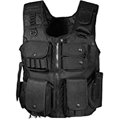 UTG NEW GEN UTG Law Enforcement SWAT Tactical Vest - Designed for Law Enforcement Entry Teams, Practical and Rugged- BlackNumerous pockets and loops keep tactical gear organized, while rugged nylon construction keeps the vest looking new for ...