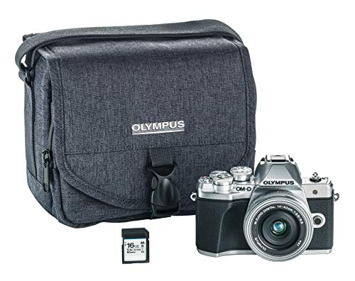 Olympus OM-D E-M10 Mark III camera kit with 14-42mm EZ lens (silver), Camera Bag...