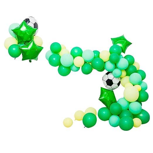 Amosfun Globos de látex con diseño de balón de fútbol, Globos de ...