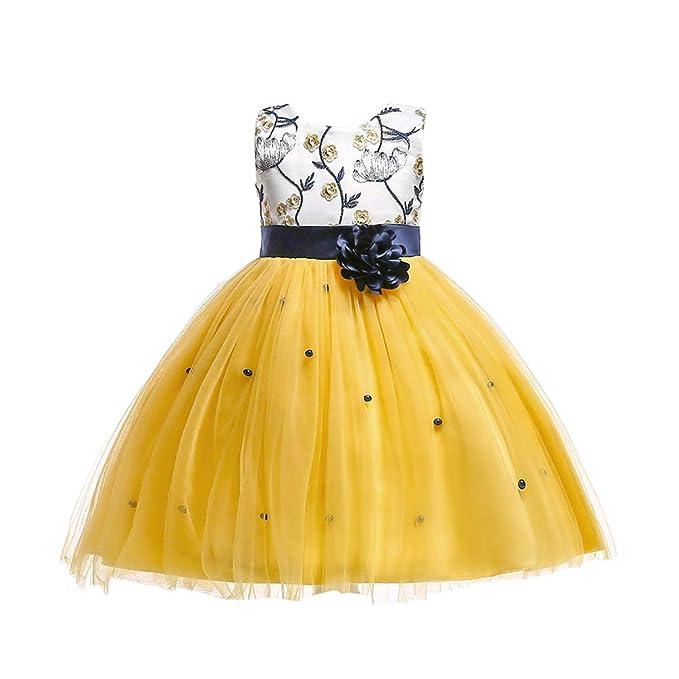 Ketamyy Bebé Niñas Sin Mangas Vestido Elegante De Princesa Fiesta De Cumpleaños Y Fiestas Boda para Niñas Vestidos: Amazon.es: Ropa y accesorios