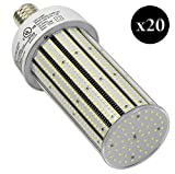 QTY 20 CC120-39 LED YACHT CLUB CARNIVAL POST LED LIGHT E39 6500K WHITE 120W (EQUIVALENT TO 720W)