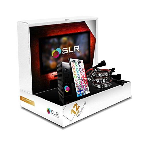 SLR Lighting™ 4pc [12-inch Strips] LED Home Theater TV BackLight Bias Lighting RGB Accent Kit - Reduce Eye Strain