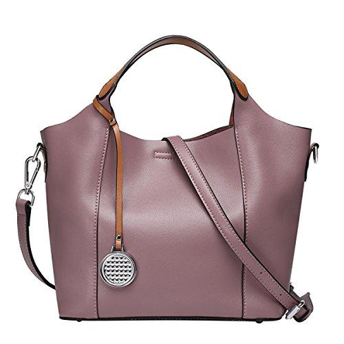 Bolso De Cuero Bolso De La Manera De Las Mujeres Diagonal Del Paquete Purple