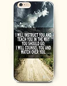 iPhone Case,OOFIT iPhone 6 (4.7) Hard Case **NEW** Case with the Design of I will instruct you and teach you in the way you should go I will counsel you and watch over you psalm 32:8 - Case for Apple iPhone iPhone 6 (4.7) (2014) Verizon, AT&T Sprint, T-mobile