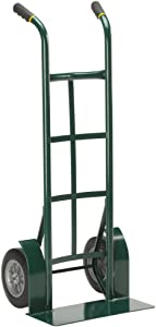 "Harper Trucks 800 lb Capacity Steel Dual Handle Heavy-Duty Hand Truck with 10"" Flat-Free Solid Rubber Wheels"