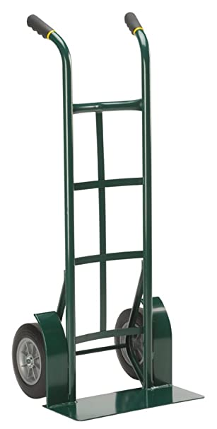 harper trucks 800 lb capacity steel dual handle heavy duty hand truck with 10 flat free solid rubber wheels dollies amazoncom - Heavy Duty Hand Truck