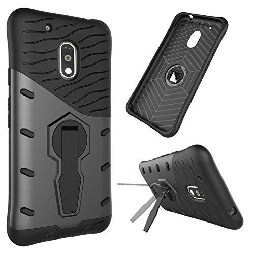 Anti-Fall Armor Phone Case for Moto G4 Play(Black) - 2
