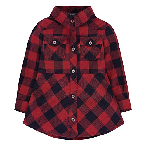 Levis Girls Sleeve Plaid Dress