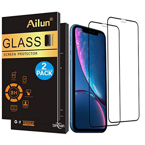 AILUN Screen Protector Compatible iPhone XR (6.1inch 2018 Release),[2Pack], Tempered Glass,Anti-Scratch,Full Notch Coverage