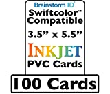 Swiftcolor Compatible Conference Badge Size Inkjet PVC Cards (3.5'' x 5.5'') - 100 Pack