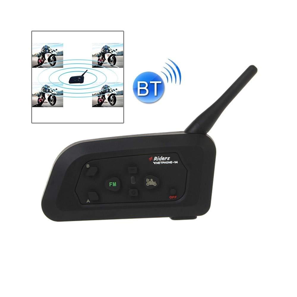 Kit Bluetooth Casque pour Moto, Distance 1200m étanche - (Noir) - Kit 1 Motard Mais Extensible