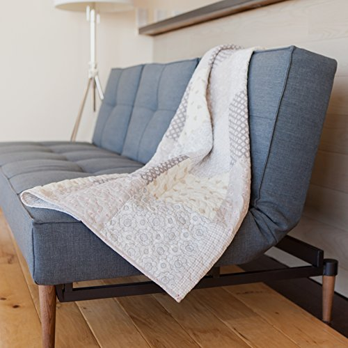 SLPR Sweet Serenity Cotton Real Patchwork Quilted Throw (50
