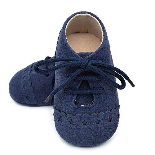 Slip Blue Meses Dark bebé Suave Encaje Zapatillas Anti bebé 18 niño de Zapatos 0 de de Suela Zapatos Aw40qZT