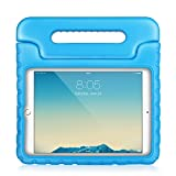 TNP iPad Air Case - Kids Shock Proof Soft Light Weight Childproof Impact Drop Resistant Protective Stand Cover Case with Handle for Apple iPad Air (iPad 5th Gen 2013 Model) (Blue)