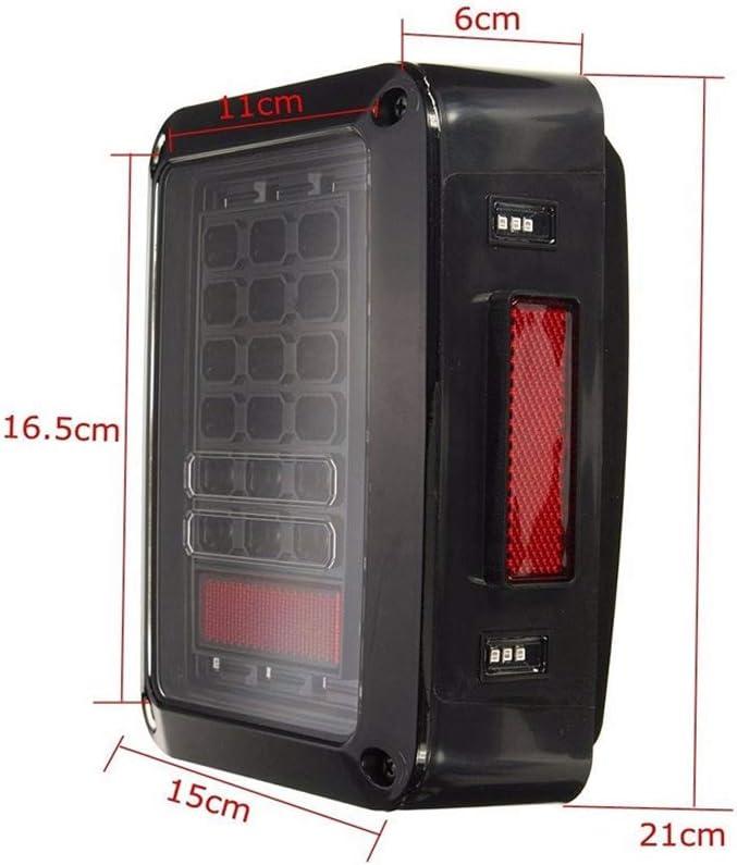 SUNWAN 1 Pair Car Rear Light Euro Version 9-32V LED Brake Lights Turn signal Light LH+RH for Wrangler JK JKU 2007-2016