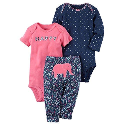 Carter's Baby Girls' 3 Piece Elephant Set 18 Months by Carter's