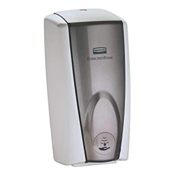 Dispensador de jabón líquido de Rubbermaid, de 1100 ml, blanco y gris, 1: Amazon.es: Industria, empresas y ciencia