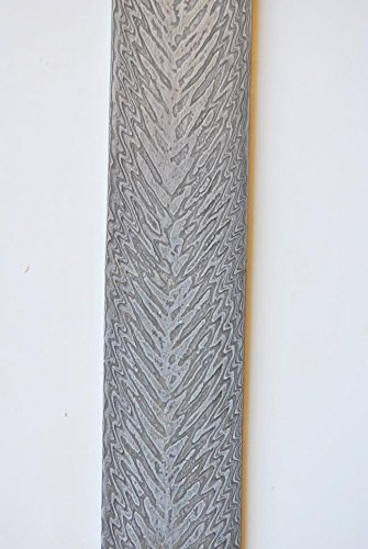 10' Damascus Blade (10'' Custom India Damascus Steel Bar Billet Knife Blade Blank Making Supply #60)