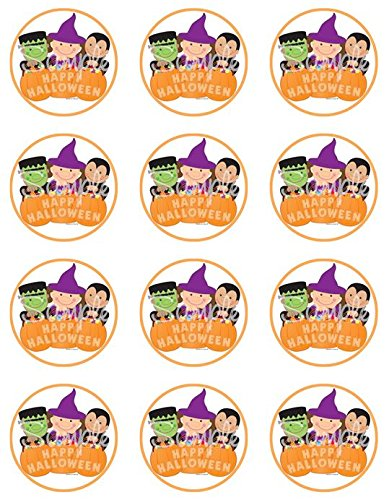 Halloween Trio Edible Cupcake Toppers - Set of 12