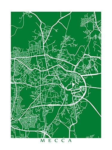 Amazon.com: Mecca Map Print: Handmade