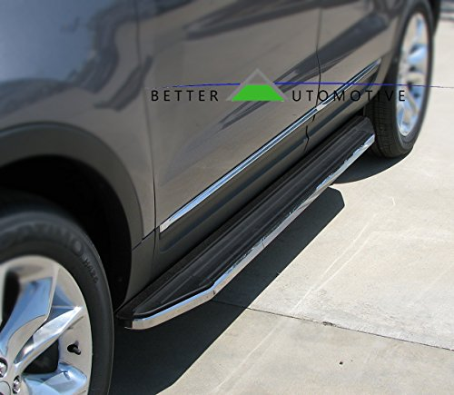 BETTER AUTOMOTIVE Running Boards Fit 2011-2019 Ford Explorer (Drilling Required Pinch Weld) Black Side Step Nerf - Boards Ford Running Explorer