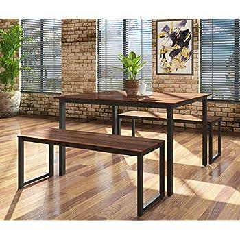 Amazon Com Homury Modern Wood 3 Piece Dining Set Studio