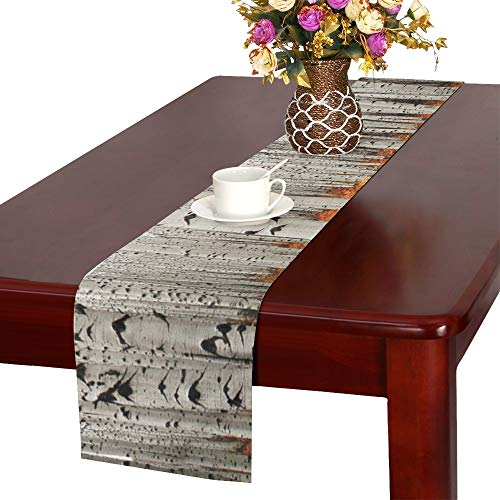 YUMOING Autumn Tree Forest American Aspens Populus Tremulo Table Runner, Kitchen Dining Table Runner 16 X 72 Inch for Dinner Parties, Events, Decor