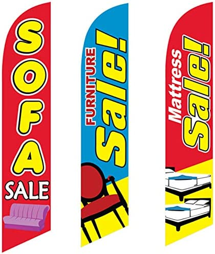 Amazon.com: 3 Swooper Flags Mattress & Sofa Sale Welcome ... on farmers furniture sales paper, big lots sale paper, badcock furniture sales paper,