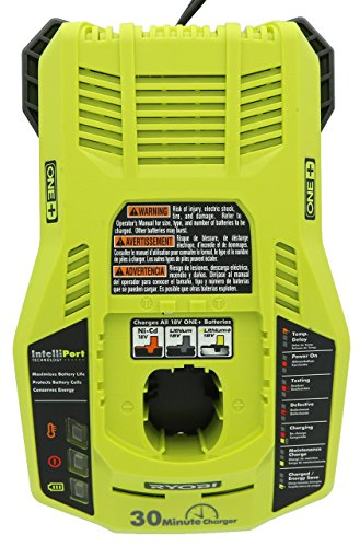 Ryobi P117 One+ 18 Volt Dual Chemistry IntelliPort Lithium Ion and NiCad Battery Charger (Battery Not Included, Charger Only) (Certified Refurbished)