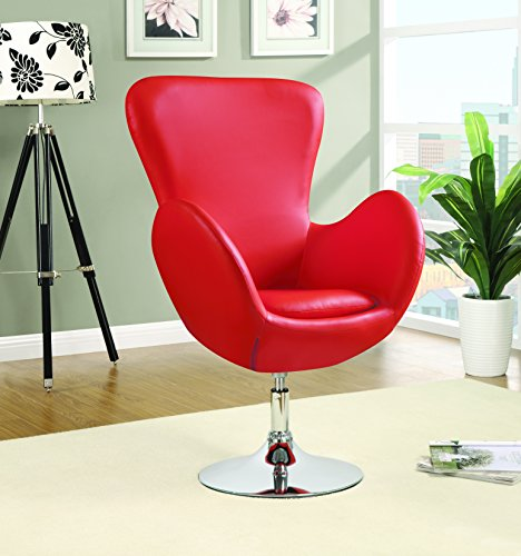 Coaster Contemporary Red Swivel Leisure - Chair Contemporary Leisure
