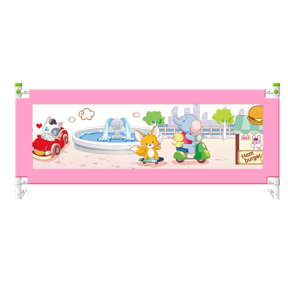 LHA ベッドガードフェンス ベッドレール - 幼児用ネットベッドバー - シングル折りたたみセーフティベッドバー - 子供用クイーンベッドレール - 使いやすい - 安眠のための赤ちゃん (色 : Pink, サイズ さいず : L-150cm) L-150cm Pink B07HBTHPXT