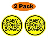 TOTOMO #ALI-030 (Set of 2) Baby on Board Magnet Decal Safety Caution Sign for Car Bumper - Baby Angel