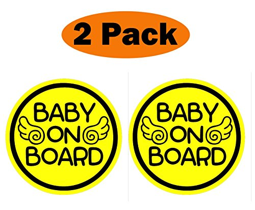 2 Sports Window Graphics (TOTOMO #ALI-030 (Set of 2) Baby on Board Magnet Decal Safety Caution Sign for Car Bumper - Baby Angel)