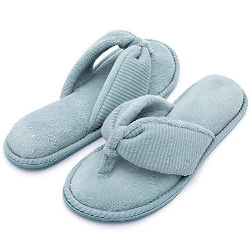 Slippers Ladies' Spa Flip Memory Indoor Flop Foam Mint Thong House RockDove Sandals qwfXRT0X
