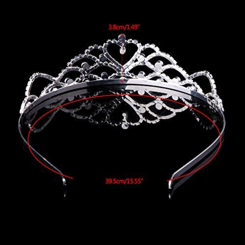 Dairyshop corona principessa Principessa nuziale di cristallo Tiara corona Pageant Prom Strass Tiara Phoenix copricapo