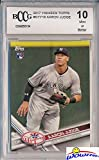 Aaron Judge 2017 Topps New York Yankees Baseball ROOKIE Card Graded HIGH BECKETT