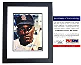 Autographed Bob Gibson Photo - 8x10 inch BLACK CUSTOM FRAME Certificate of Authenticity COA) - Hall of Famer - PSA/DNA Certified