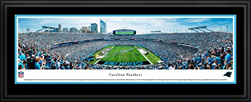 (Carolina Panthers - End Zone - Double Mat, Deluxe Framed NFL Print by Blakeway Panoramas)