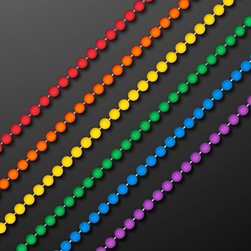 Set of 144 7mm Round Assorted Rainbow Mardi