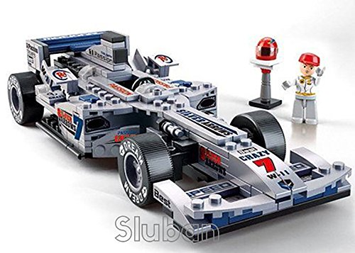 "Sluban Formula One Racing Car ""Sliver Arrow"" 1:24-257 Pieces (Brand New in Original English Box) 100% LEGO Compatible - Educational Toy - Building Blocks (M38-B0352)"