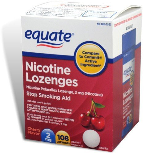 Equate - Nicotine Lozenge 2 Mg, Stop Smoking Aid, Cherry Flavor, 108-Count