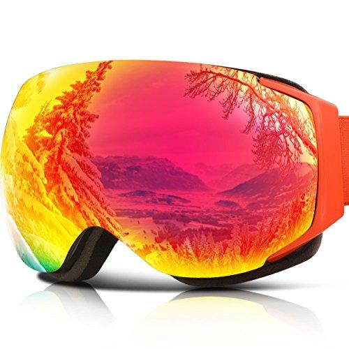 Ski Goggles, YAKAON Y3 Frameless Snow Goggles Anti-fog Dual Layer Lens 100% UV400 Protection Snowboard Goggles for Men and - Snowboard Canada Goggles