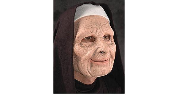 Zagone Studio monja máscara de látex de para usted UK Stock: Amazon.es: Juguetes y juegos