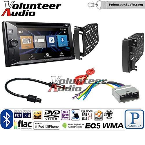 Price comparison product image Volunteer Audio Sony XAV-W651BT Double Din Radio Install Kit with Bluetooth USB AUX Fits 2009-2010 Ram 2011-2014 Chrysler 200 (REF,  REC,  and RAK Factory Radios)