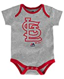 St Louis Cardinals Infant Onesie Size 18 Months Bodysuit Creeper Gray