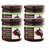 The King's Cupboard Sauce, Organic Hot Fudge, 7.2 Ounce (Pack of 4)